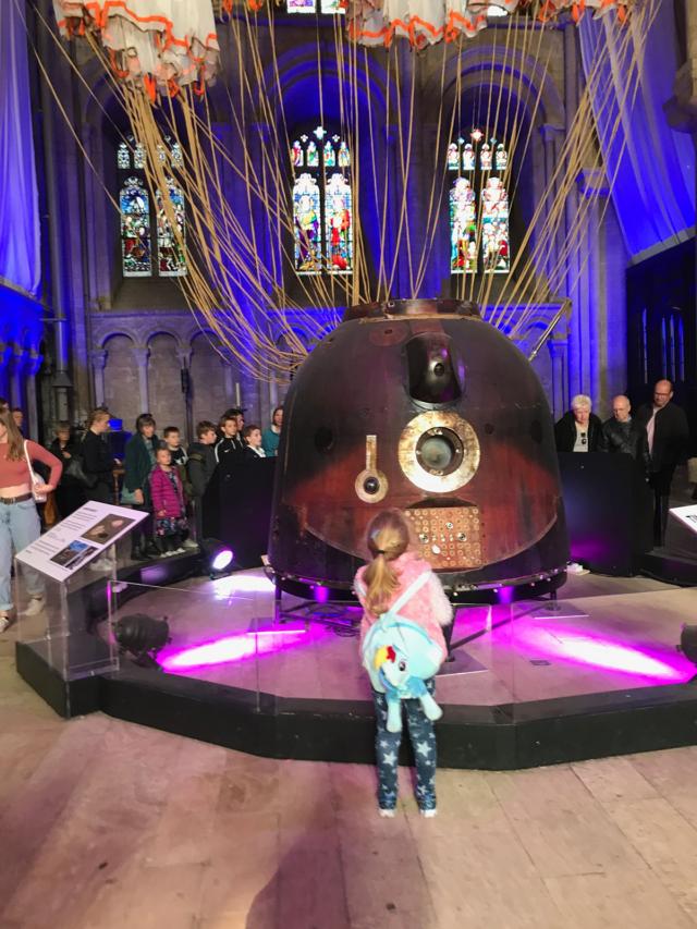 Astronaut in a church